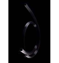 Hadice silikonová 150 cm černá drážkovaná